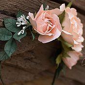 Свадебный салон ручной работы. Ярмарка Мастеров - ручная работа Ободок с розами в стиле Бохо. Handmade.