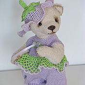 Куклы и игрушки handmade. Livemaster - original item Teddy Bear. Flower. 14cm.. Handmade.