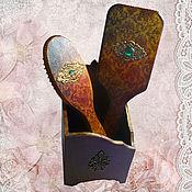 """Сувениры и подарки ручной работы. Ярмарка Мастеров - ручная работа Подставка с расческами  """"Милой леди""""под старину винтаж. Handmade."""