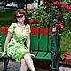 """Платья ручной работы. Ярмарка Мастеров - ручная работа. Купить Платье """"Кувшинки"""". Handmade. Цветочный"""