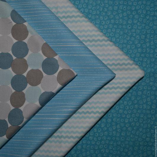 """Шитье ручной работы. Ярмарка Мастеров - ручная работа. Купить Набор хлопка для пэчворка """"Голубой """". Корея. Handmade. Голубой"""