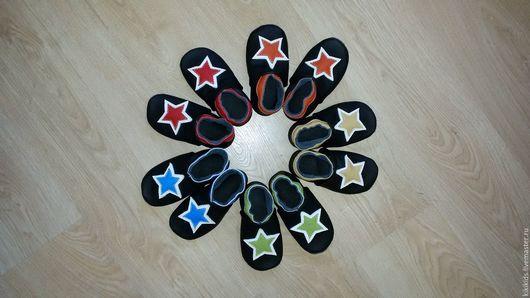 Обувь ручной работы. Ярмарка Мастеров - ручная работа. Купить Пинетки, чешки, мокасины  Звёзды. Handmade. Обувь ручной работы