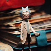 Куклы и игрушки ручной работы. Ярмарка Мастеров - ручная работа Rick and Morty . Фигурка Рика из мультфильма Рик и Морти.. Handmade.