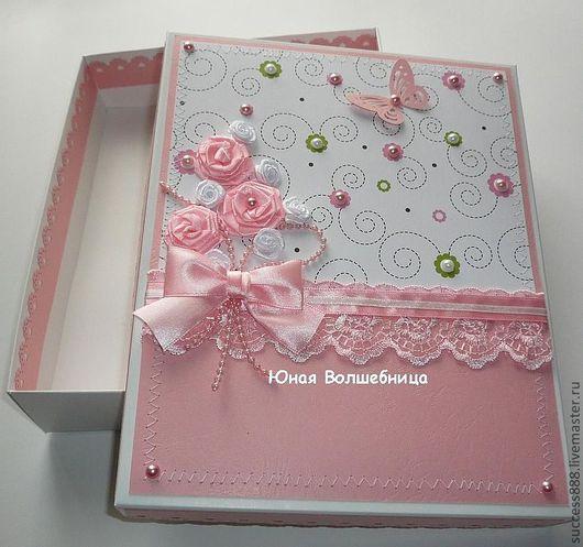 подарочная коробка, коробка на рождение девочки, оригинальная упаковка на день рождение девочки, коробочка для подарка новорожденной