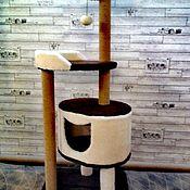 Домик для питомца ручной работы. Ярмарка Мастеров - ручная работа Мини комплекс для большой кошки номер 1015. Handmade.