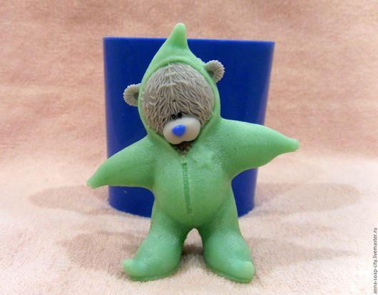 """Другие виды рукоделия ручной работы. Ярмарка Мастеров - ручная работа. Купить Силиконовая форма для мыла """"Мишка Тедди - звезда"""". Handmade."""