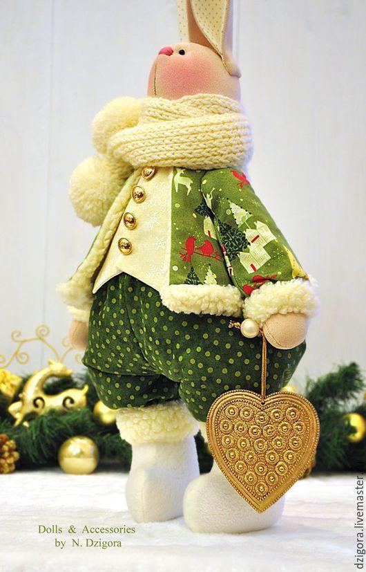 Игрушки животные, ручной работы. Ярмарка Мастеров - ручная работа. Купить Рождественский кролик Luke /  Люк. Handmade. Заяц
