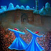 Картины и панно ручной работы. Ярмарка Мастеров - ручная работа Танец дервишей у стен Бухары. Картина выставлена для примера.. Handmade.