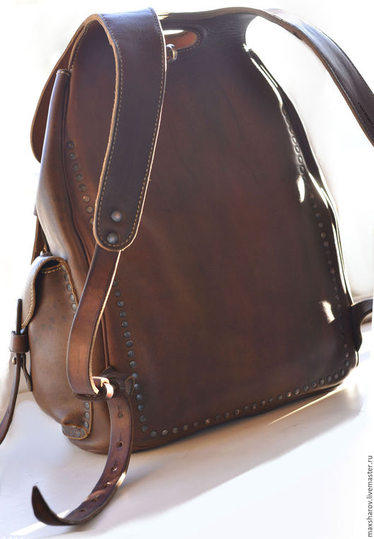 """Женские сумки ручной работы. Ярмарка Мастеров - ручная работа. Купить Кожаный рюкзак ручной работы """"Tarakan"""" авторская работа. Handmade."""