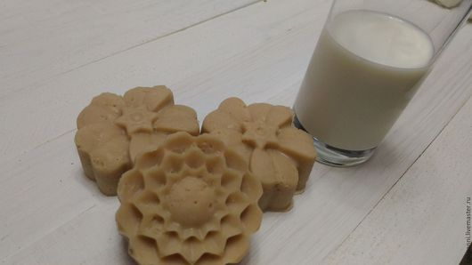 Мыло ручной работы. Ярмарка Мастеров - ручная работа. Купить Молочное мыло. Handmade. Бежевый, мыло сувенирное, мыло с нуля
