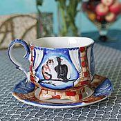 Посуда handmade. Livemaster - original item teacups: Tea porcelain pair of