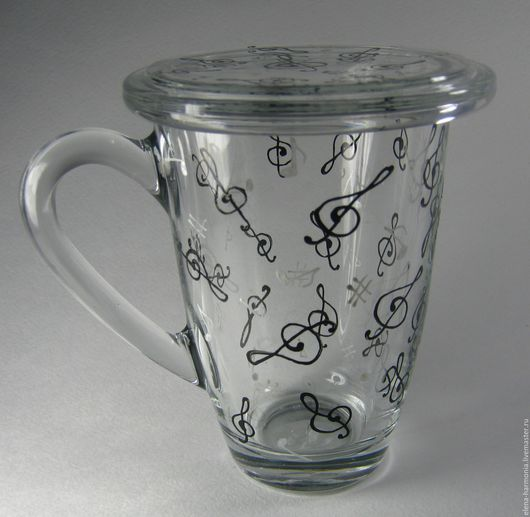 Заварочная чашка витражная роспись, кружка заварочная купить, подарок сотруднику купить, подарок музыканту купить. Заказать или купить чашку http://www.livemaster.ru/elena-harmonia