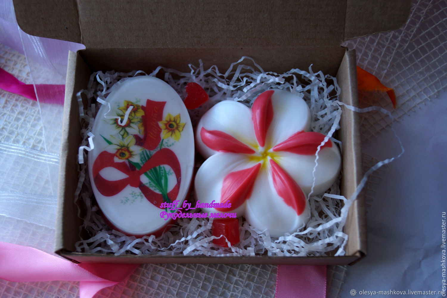 The soap set is For the lovely ladies (plumeria soap with picture), Cosmetics2, Moscow,  Фото №1
