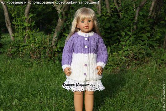 Одежда для девочек, ручной работы. Ярмарка Мастеров - ручная работа. Купить кофта  Виолетта вязаная спицами авт. работа. Handmade.
