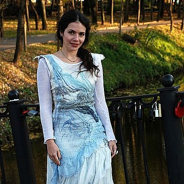 """Одежда ручной работы. Ярмарка Мастеров - ручная работа Валяное платье """"Стихия Вода"""". Handmade."""
