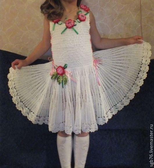 """Одежда для девочек, ручной работы. Ярмарка Мастеров - ручная работа. Купить Детский комплект: платье и шляпа """"Бабочки"""". Handmade. Белый"""