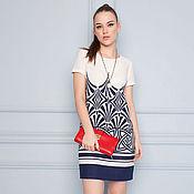 Одежда ручной работы. Ярмарка Мастеров - ручная работа Платье из 100% льна  32070-1. Handmade.