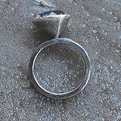 Украшения handmade. Livemaster - original item High-cut rock crystal ring, silver. Handmade.