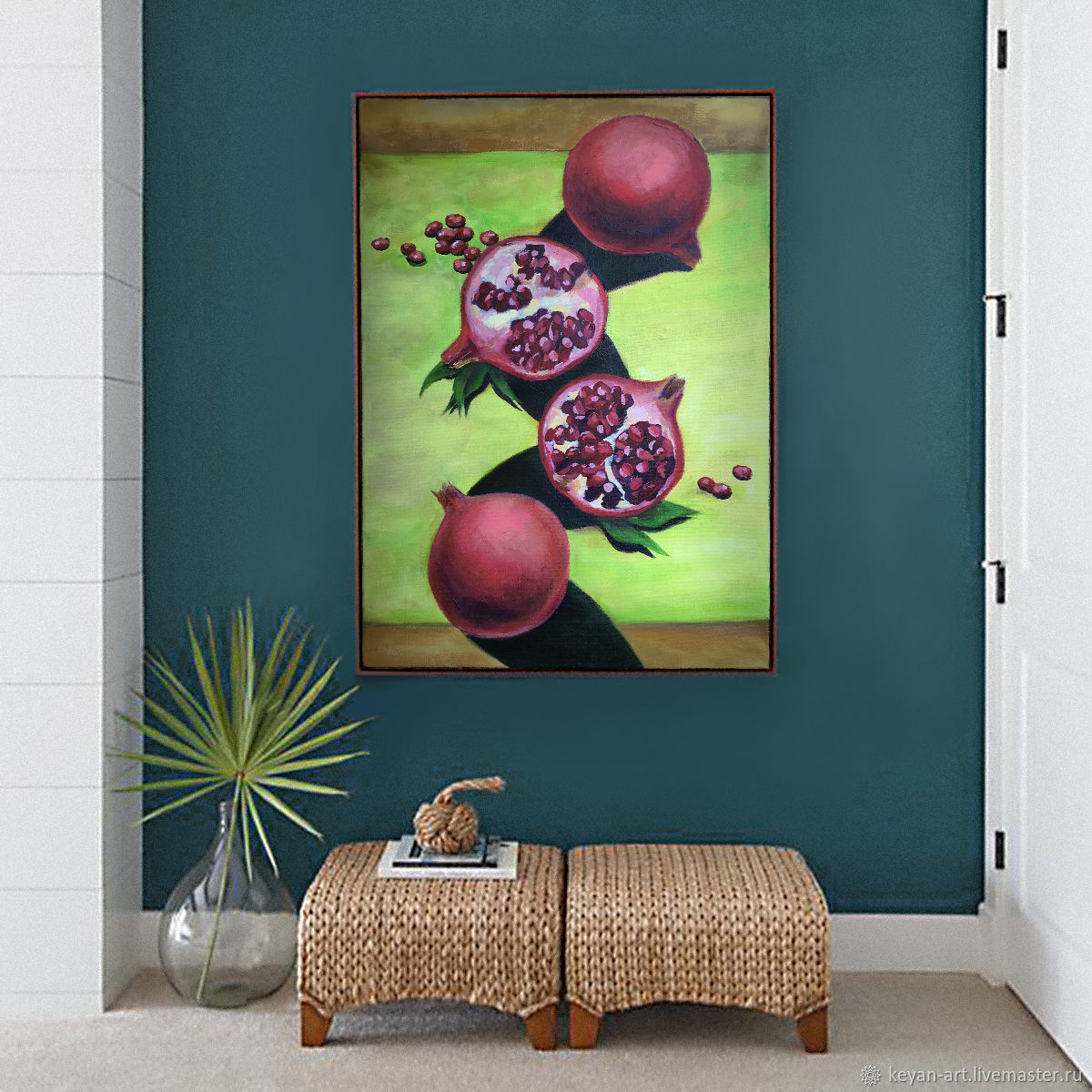 still life with pomegranates. Artist Keyan Anna, Pictures, Moscow,  Фото №1