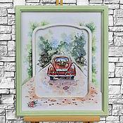 Картины и панно handmade. Livemaster - original item Panels: A romantic journey. Handmade.