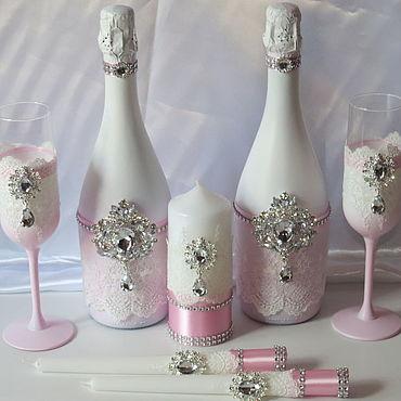 Свадебный салон ручной работы. Ярмарка Мастеров - ручная работа Наборы аксессуаров: Нежно розовый. Handmade.