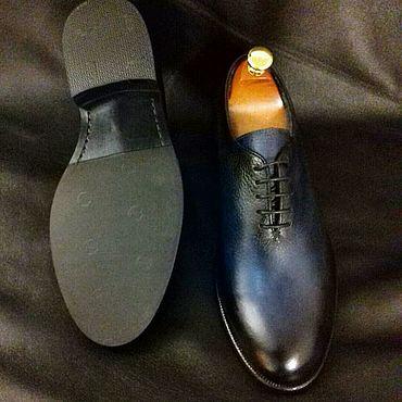 Обувь ручной работы. Ярмарка Мастеров - ручная работа Цельнокроеные туфли. Handmade.