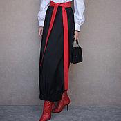 Одежда handmade. Livemaster - original item Long black balloon skirt, cotton skirt, Maxi skirt. Handmade.