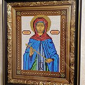 Картины и панно handmade. Livemaster - original item Icon of St. venerable Domniki. Handmade.