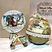 Сувениры и подарки handmade. Livemaster - original item The ball is a box with a horse inside. Handmade.
