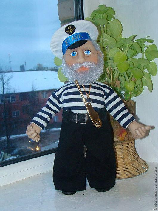Человечки ручной работы. Ярмарка Мастеров - ручная работа. Купить текстильная кукла из капрона -боцман. Handmade. Кукла боцман
