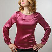 """Одежда ручной работы. Ярмарка Мастеров - ручная работа Блузка шелковая """"Ягодный цвет"""". Handmade."""