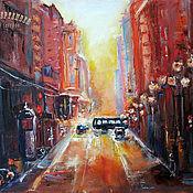 Картины и панно handmade. Livemaster - original item Painting oil painting MORNING IN the CITY. Handmade.