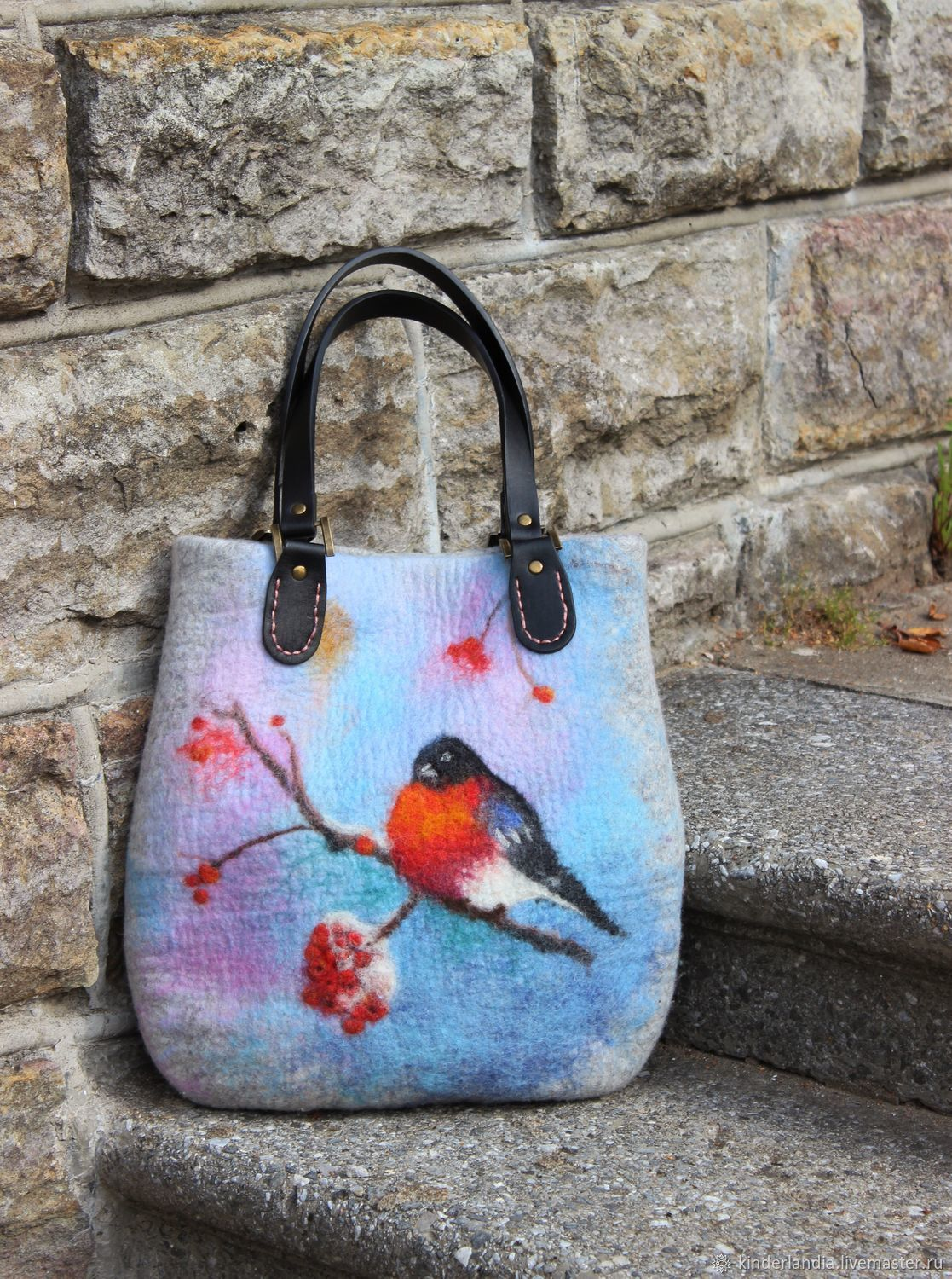 Bag felted bullfinches arrived, Classic Bag, St. Petersburg,  Фото №1