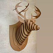 Маски ручной работы. Ярмарка Мастеров - ручная работа Голова оленя из картона на стену. Handmade.