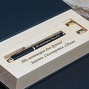 Ручки ручной работы. Ярмарка Мастеров - ручная работа Эксклюзивный набор Ручка+запонки с гравировкой. Handmade.