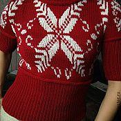 Одежда ручной работы. Ярмарка Мастеров - ручная работа Пуловер Снежинка. Handmade.