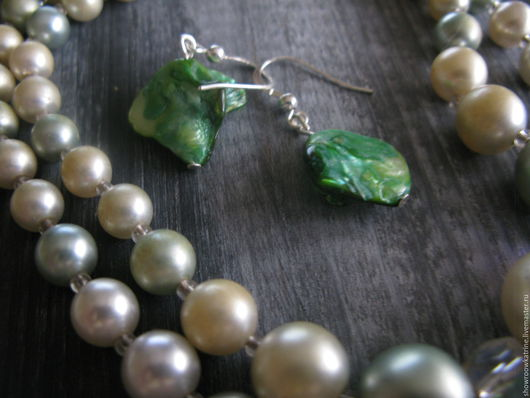 Винтажные украшения. Ярмарка Мастеров - ручная работа. Купить JAPAN ожерелье + серьги. Handmade. Мятный, винтажные украшения, япония
