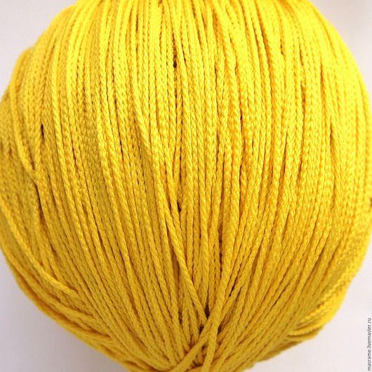 Для украшений ручной работы. Ярмарка Мастеров - ручная работа. Купить Шнур 1,5 мм желтый полиэфирный. Handmade.