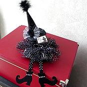 Vintage interior handmade. Livemaster - original item Witch,Halloween decor,decoration for bottle,cork,holiday. Handmade.