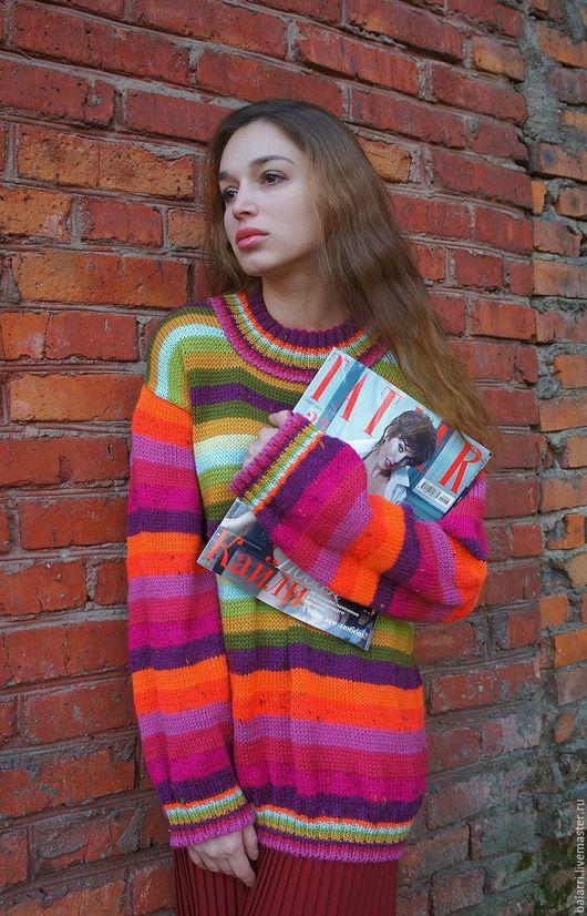 Пуловер вязаный женский доставка
