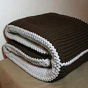 Для дома и интерьера ручной работы. Ярмарка Мастеров - ручная работа Плед (Серый /шоколад). Handmade.