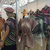 Одежда handmade. Livemaster - original item Knitted Wool Vest. Diagonal cardigan. Handmade.