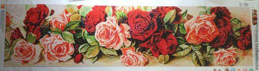 Дизайн интерьеров ручной работы. Ярмарка Мастеров - ручная работа. Купить Алмазная мозайка(цветы, розы). Готовая работа.. Handmade. Комбинированный