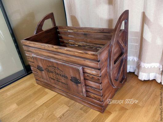 Мебель ручной работы. Ярмарка Мастеров - ручная работа. Купить Ящик-кладовка. Handmade. Коричневый, ящик для вина, подарок