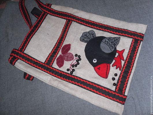 Женские сумки ручной работы. Ярмарка Мастеров - ручная работа. Купить Сумка с птицами. Handmade. Рисунок, сова, тесьма