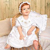 Работы для детей, ручной работы. Ярмарка Мастеров - ручная работа Крестильное платье Елизавета, есть чепчик. Handmade.