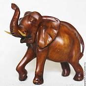 Винтаж ручной работы. Ярмарка Мастеров - ручная работа Слон, статуэтка, имитация дерева, ручная работа, винтаж. Handmade.