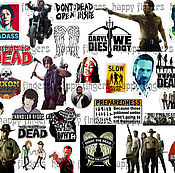 Материалы для творчества handmade. Livemaster - original item Stickers decals the Walking dead TV series The Walking Dead Daryl Rick. Handmade.