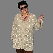 Одежда handmade. Livemaster - original item Cardigan Beige with milk. Handmade.