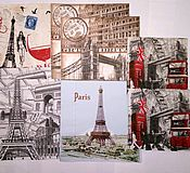 """Материалы для творчества ручной работы. Ярмарка Мастеров - ручная работа """"Лондон-Париж"""" набор салфеток для декупажа. Handmade."""